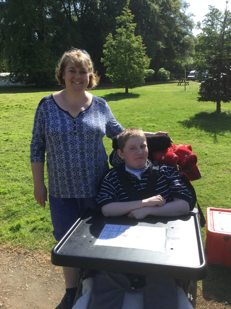 Nurse Avril Bembridge and Jack at Higher Ashurst 2018.png