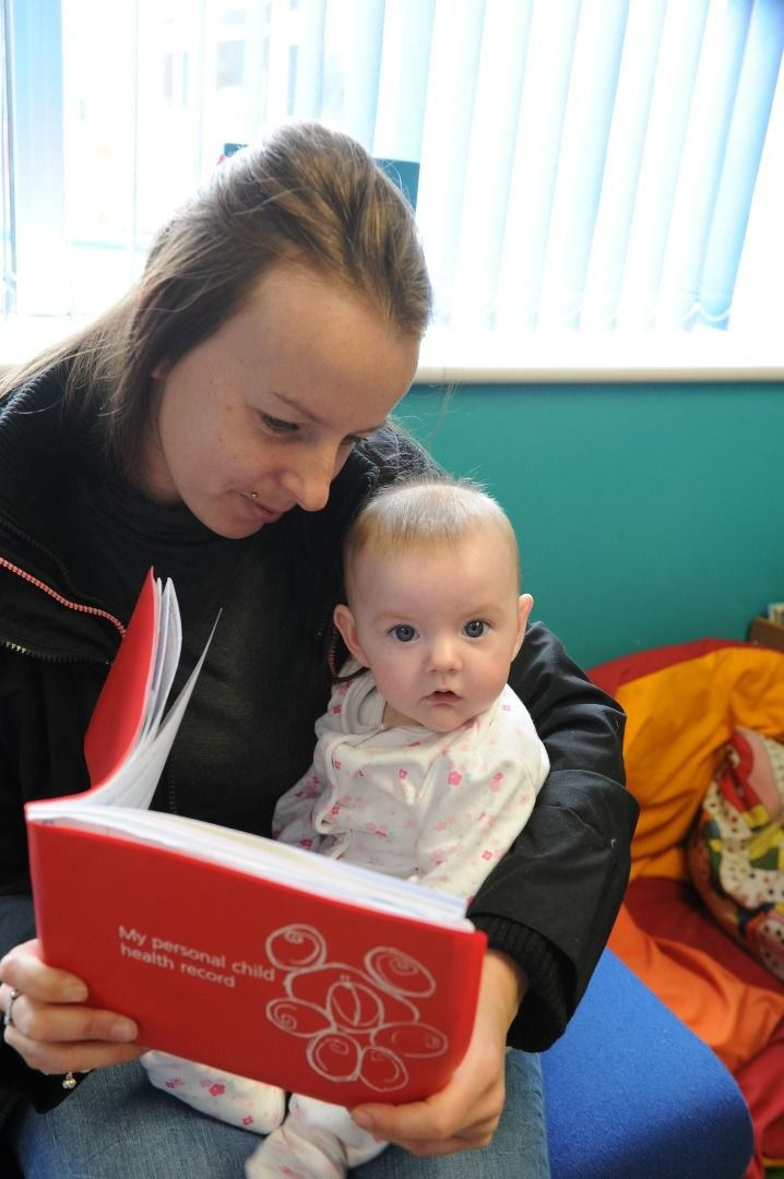 Child 6-8 weeks with Red Book